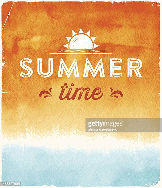 Summer Watercolor Background