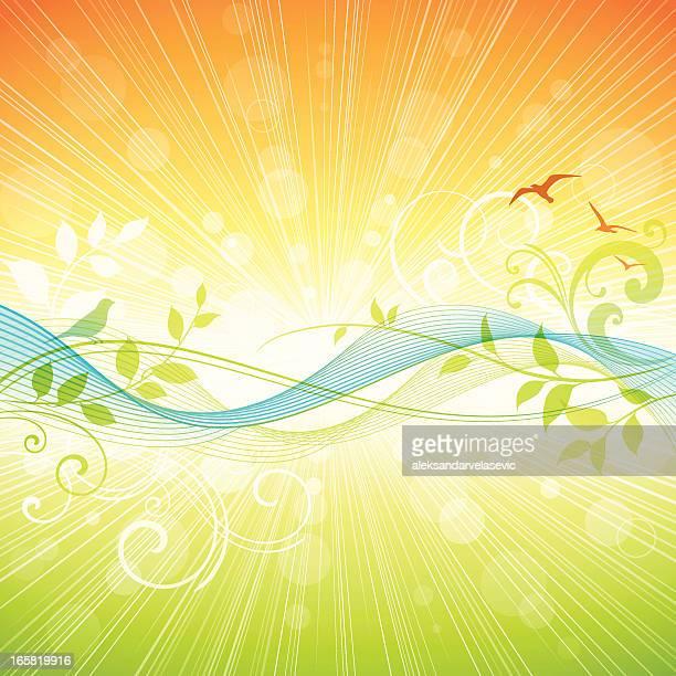 summer wave - signal flare stock illustrations, clip art, cartoons, & icons