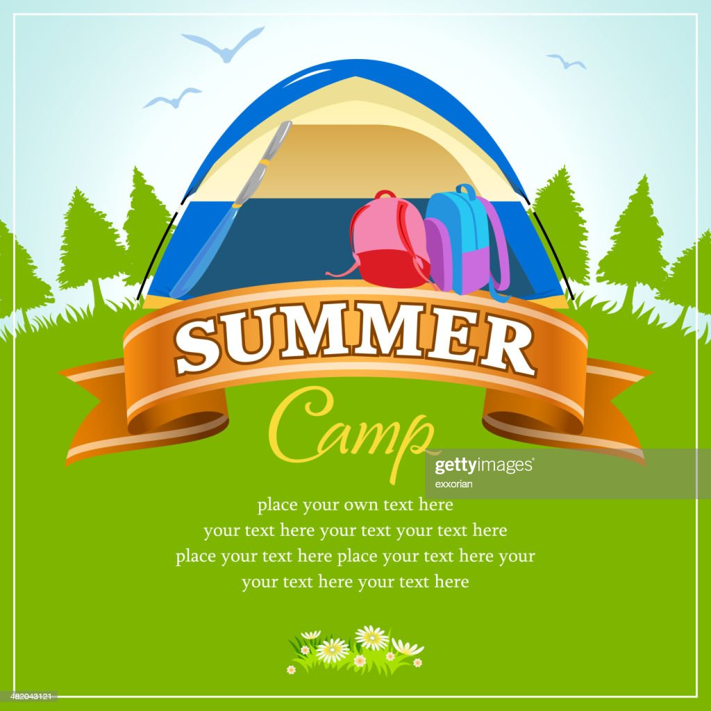 Summer Wide Camp in Nature Background
