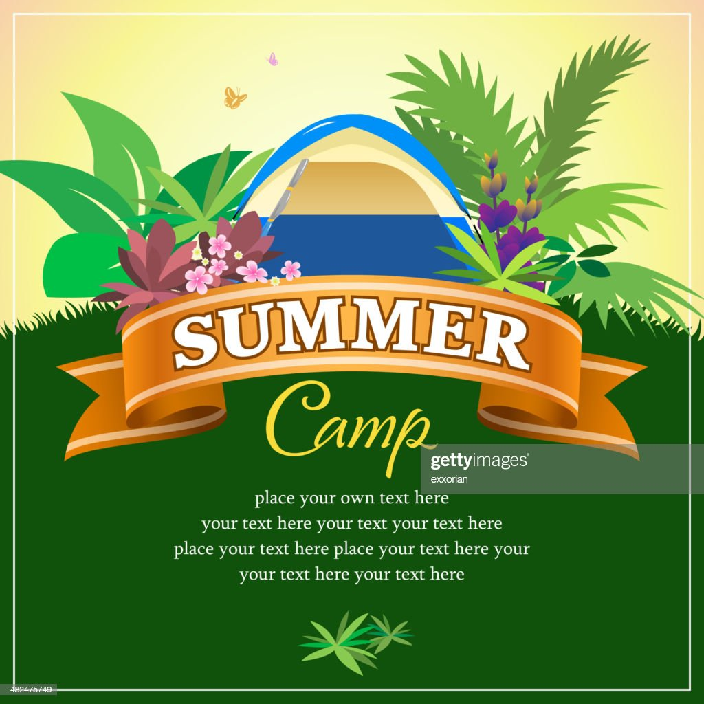 Summer Wild Camp with Ribbon Banner