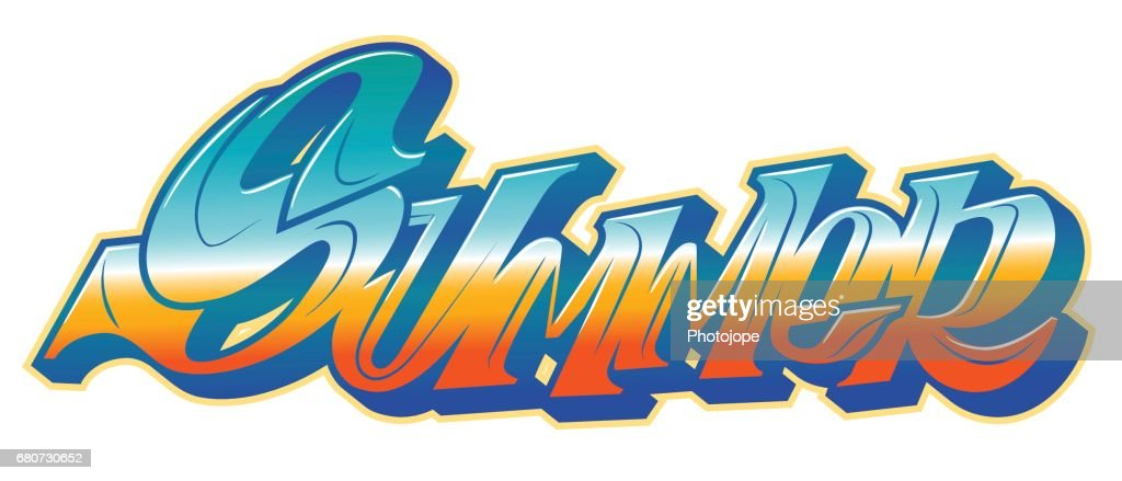 Summer word in graffiti style