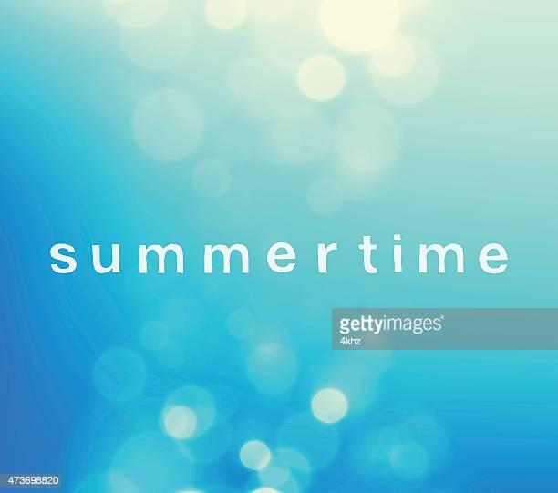 Summertime Defocus Blue Sky Stock Vector Background