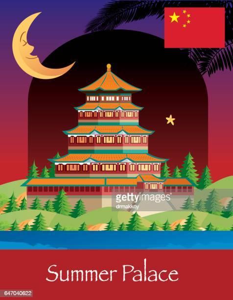 夏期宮殿 - ヤードポンド法点のイラスト素材/クリップアート素材/マンガ素材/アイコン素材