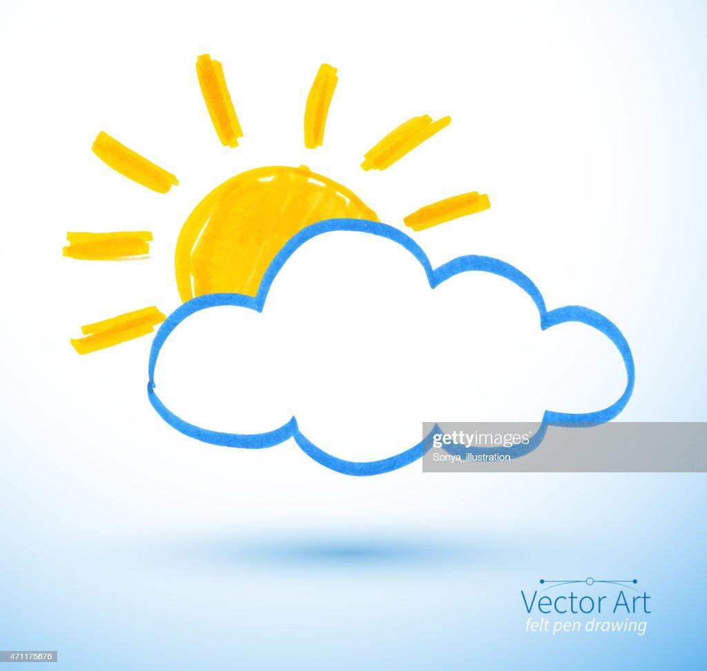 Sun and cloud.