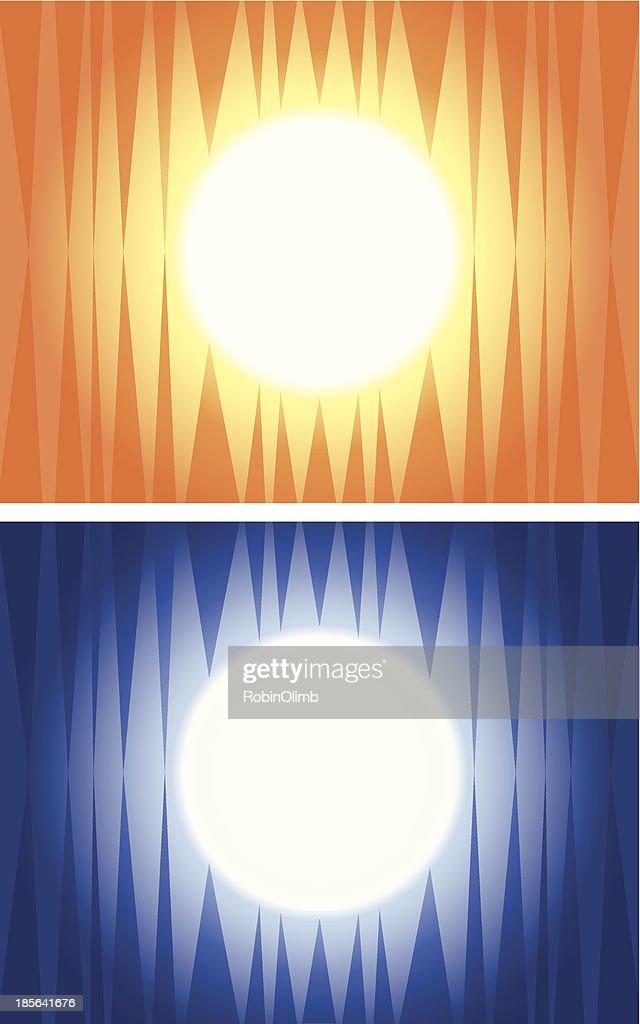 Sun And Moon Abstract