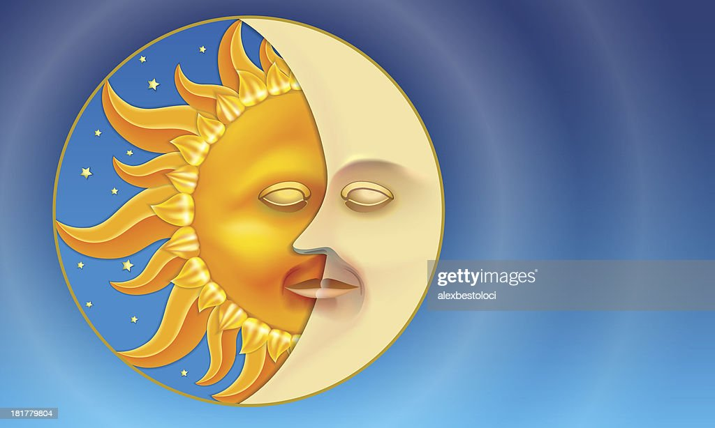 Sun and Moon in a circle