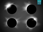 Sun and moon Vector Set. Various  suns  moons including an