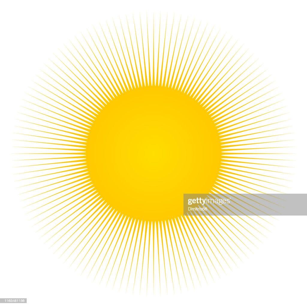 Sun and sunbeams : Stock Illustration