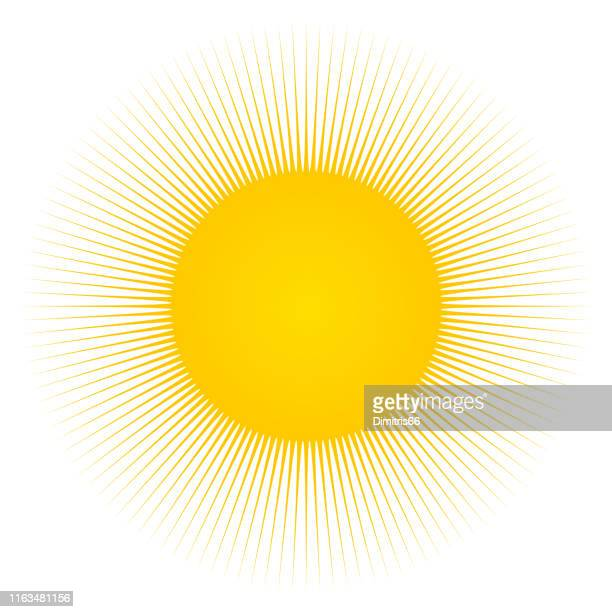 stockillustraties, clipart, cartoons en iconen met zon en zonnestralen - zon