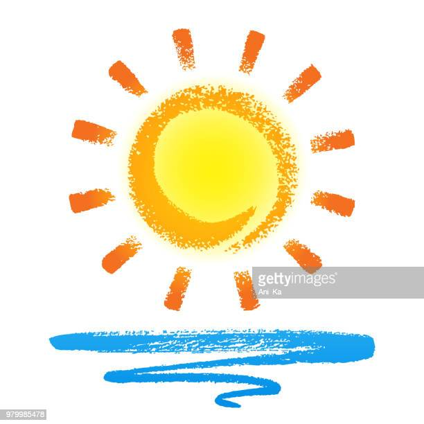 sun and wave - sun stock illustrations