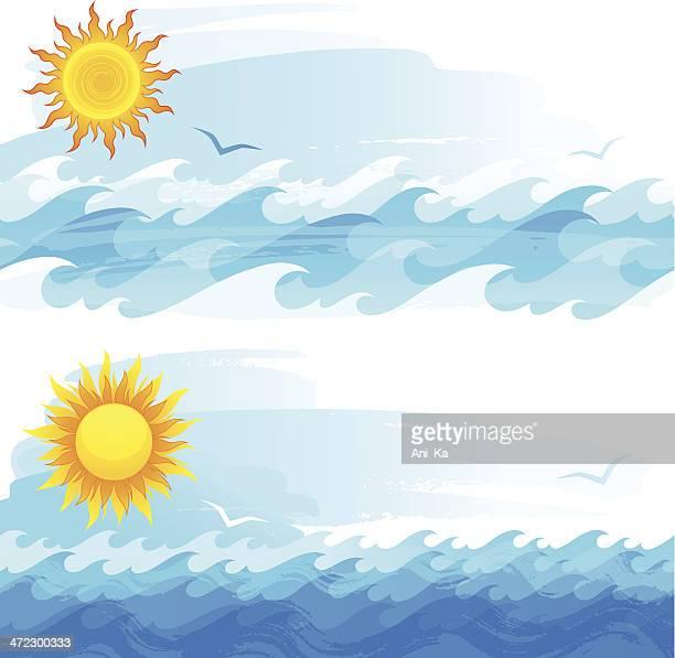 Sonne und Wellen