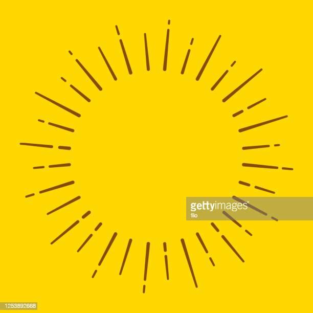 sun blast circle lines - blitzbeleuchtung stock-grafiken, -clipart, -cartoons und -symbole