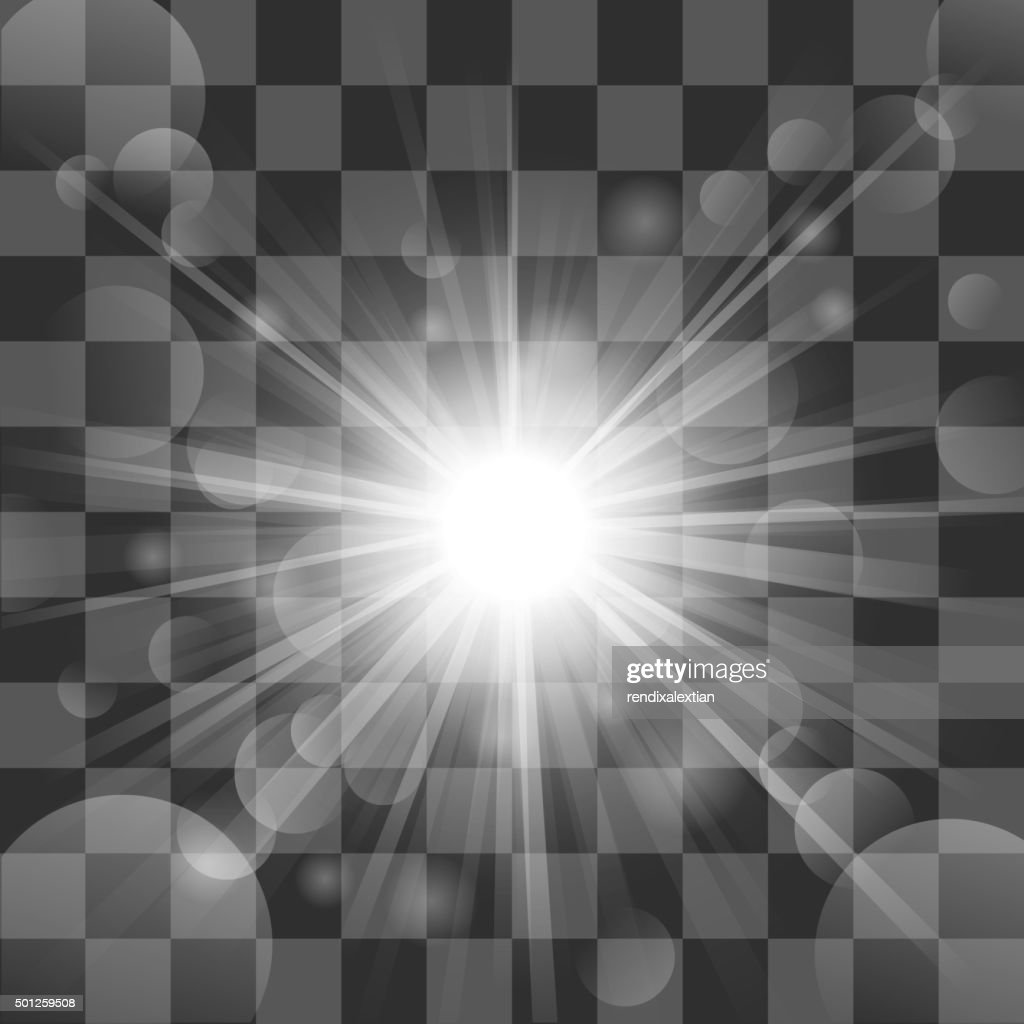 Sun burst on transparency background