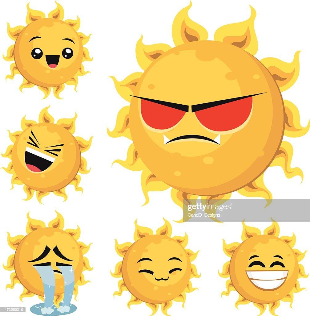 Sun Cartoon Set B