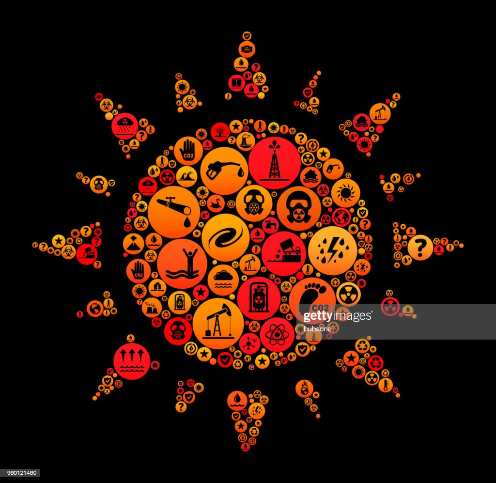 Sun-Climate Change Vektormuster Symbol : Stock-Illustration