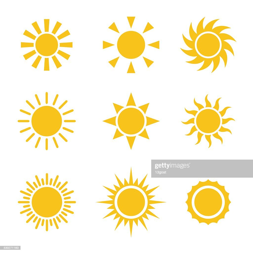 Sun Color Icons Set