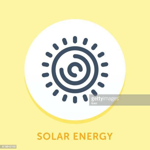 sun curve icon - solar flare stock illustrations, clip art, cartoons, & icons