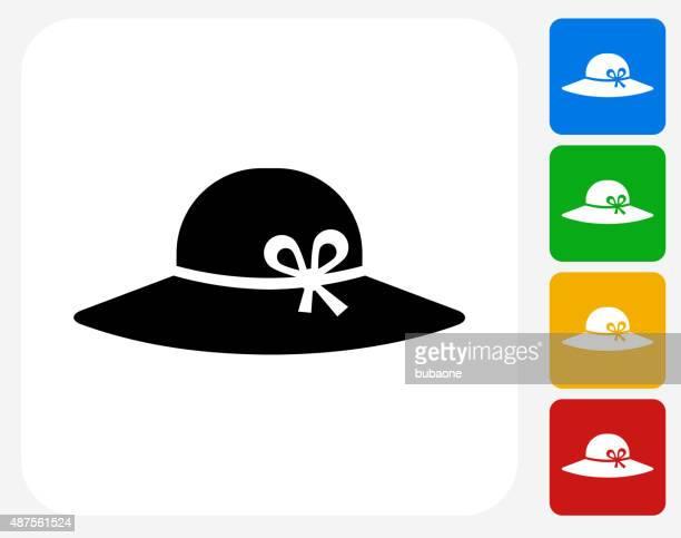 Sun Hat Icon Flat Graphic Design