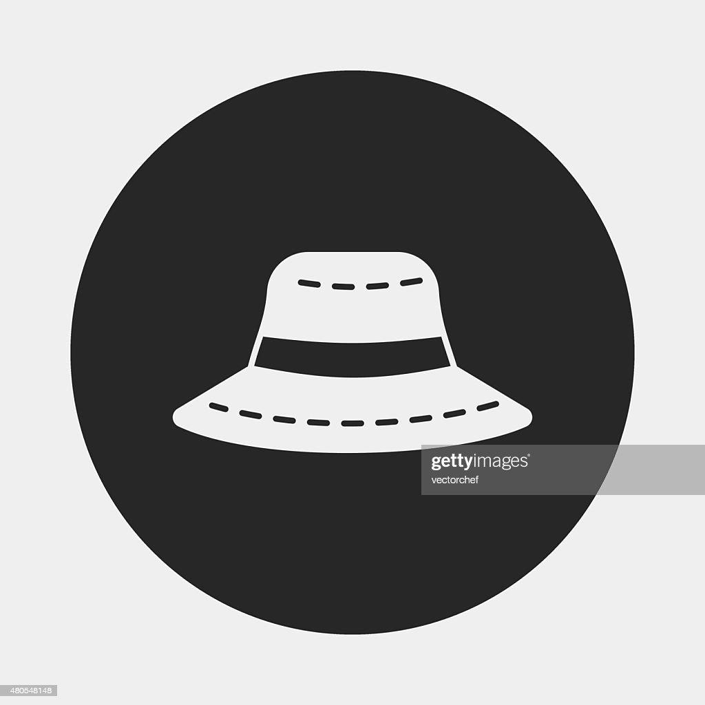 Sombrero de sol icono : Arte vectorial