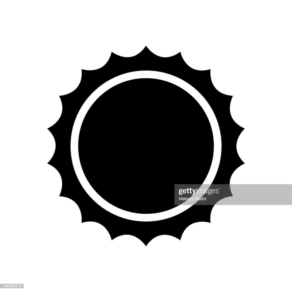 Sun icon . Black icon isolated on white background