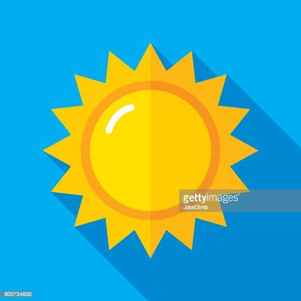 Sonnensymbol flach