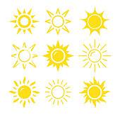 Sun icon set