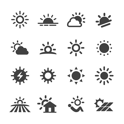 Sun Icons - Acme Series - gettyimageskorea