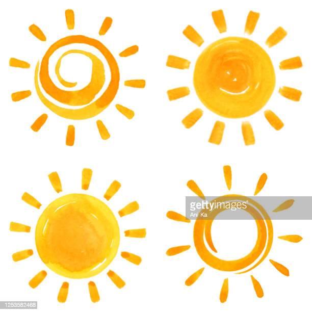 illustrations, cliparts, dessins animés et icônes de icônes de soleil - soleil