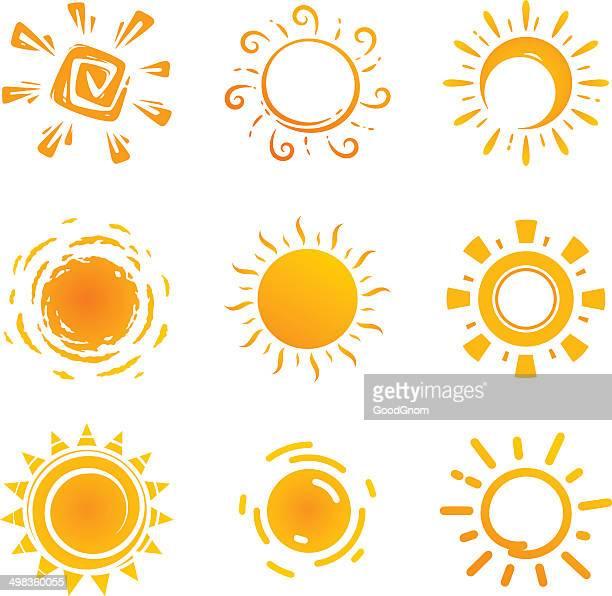 Icônes de soleil