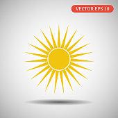 Sun icon.Vector eps 10