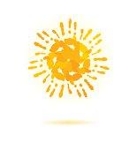 Sun made of handprint