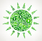 Sun Nature and Environmental Conservation Icon Pattern
