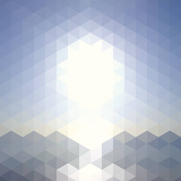 Sun Over The Sea - Abstract Geometric Background Wall Art
