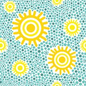 Sun pattern vector seamless