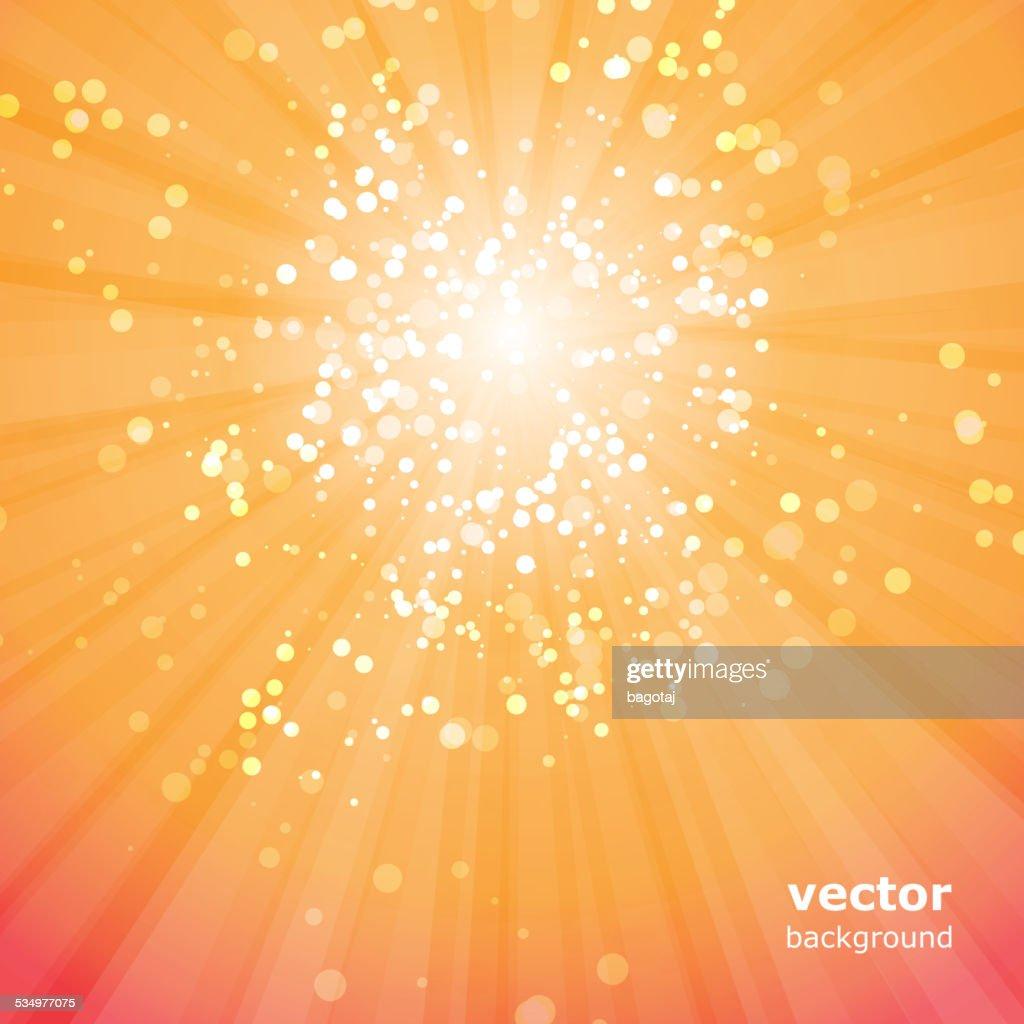 Sun Rays with Bubbles Vector