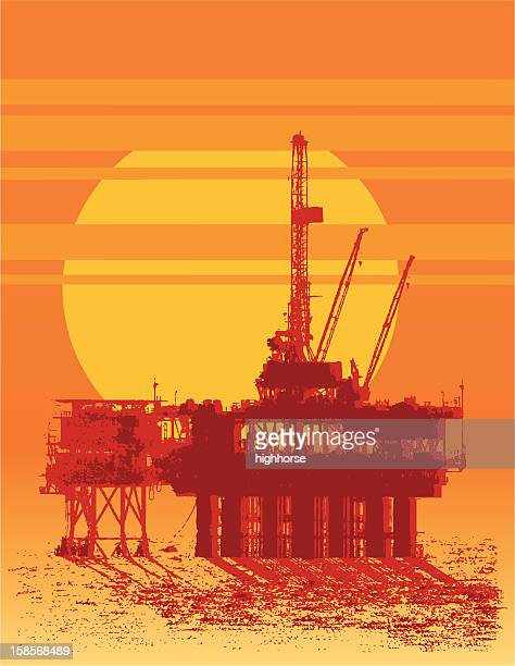 sun sets on oil - motorboating stock illustrations, clip art, cartoons, & icons