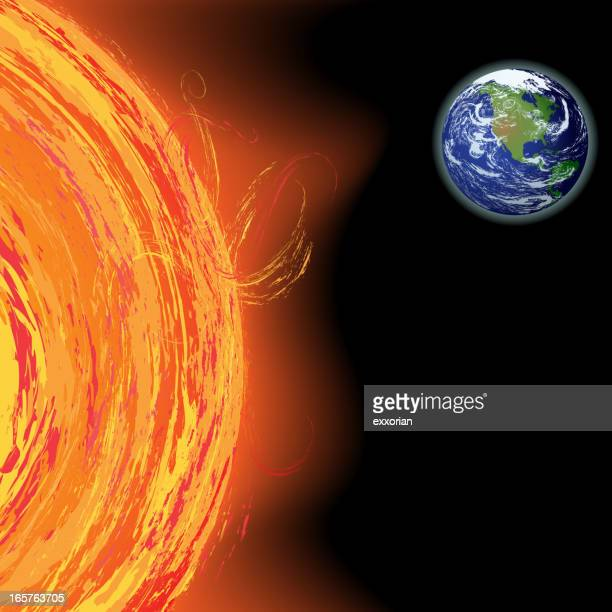 sun solar flares - solar flare stock illustrations, clip art, cartoons, & icons