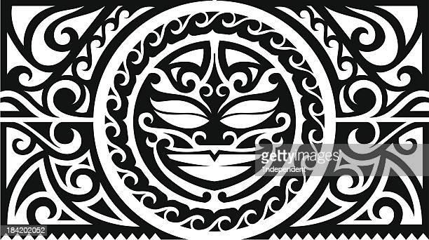 sun tribal sleeve - hawaiian ethnicity stock illustrations, clip art, cartoons, & icons
