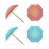 Sun Umbrella Set. Vector