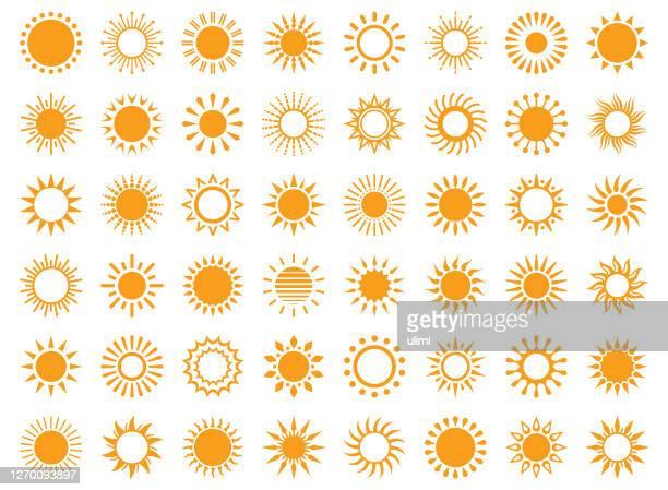 stockillustraties, clipart, cartoons en iconen met zon - zonlicht