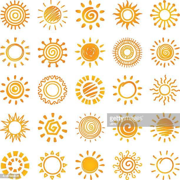 ilustrações, clipart, desenhos animados e ícones de sol, - luz solar