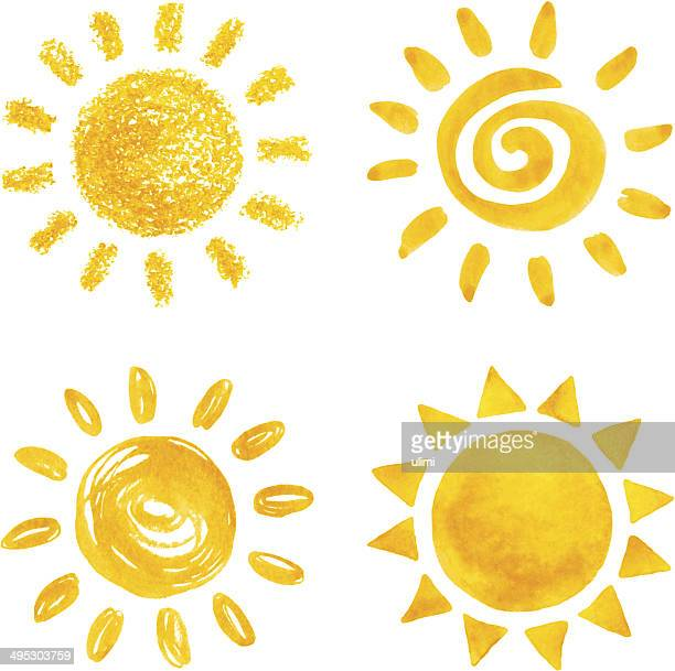 stockillustraties, clipart, cartoons en iconen met sun - zon