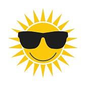 Sun with glasses icon