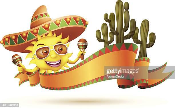 ilustrações de stock, clip art, desenhos animados e ícones de sol com sombrero - sombrero