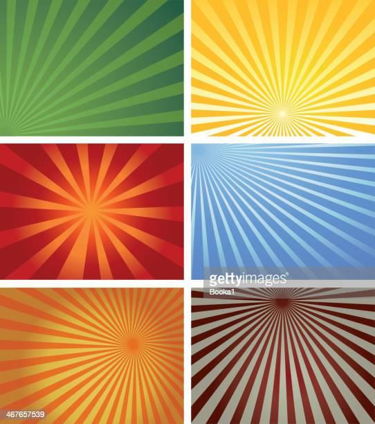 illustrazioni stock, clip art, cartoni animati e icone di tendenza di raggio di sole collezione - raggio di sole