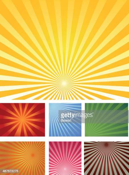 sunbeam collection - sunbeam stock illustrations