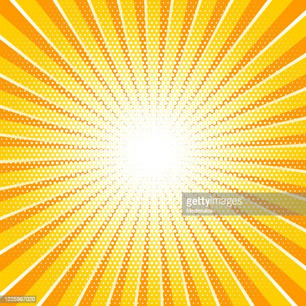 illustrazioni stock, clip art, cartoni animati e icone di tendenza di sunbeam exploding background - riflesso sull'obiettivo