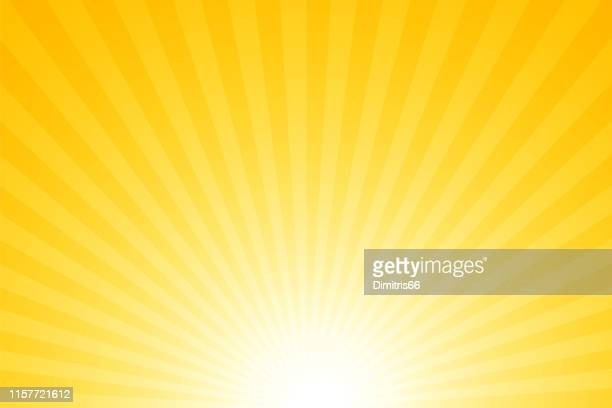sunbeams: bright rays background - yellow stock illustrations