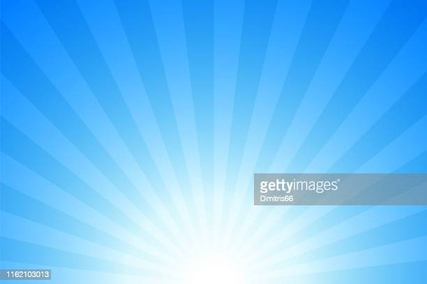 sunbeams: bright rays background - national holiday stock illustrations