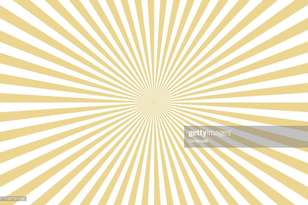 Sunbeams: gold rays background : Stock Illustration